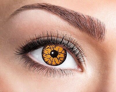 Eyecatcher 3 Monats Linsen Monster Orange M45 farbige - Orange Kontaktlinsen