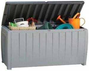Large Outdoor Storage Garden Pool Patio Deck Box Bench Bin Container  Waterproof