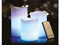 Set of 3 colour changing candles