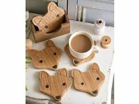 Wooden Fox Coasters (NEW)