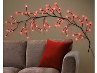 White or Red LED Wall Branch Light, Brand New