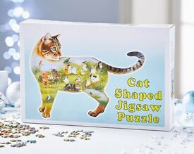 Cat Shaped Cutout Jigsaw Puzzle (NEW)