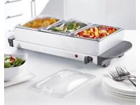 3 x 1.5L Tray Stainless Steel Buffet Server / Hot Plate