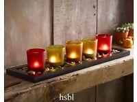 Jewel Tone Candle Set