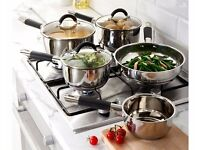 Chef's choice stainless steel 5 piece pan set
