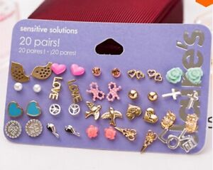 Claires Fashion Accessories Stud Earrings 20 pairs Girls Womens Ear Rings BNIB