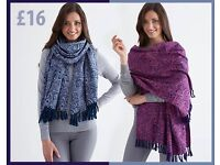 Jacquard Woven Fringed Scarf - Choose from 2 Colours