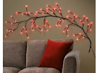 BRAND NEW Red LED Branch Wall Light - Also in white