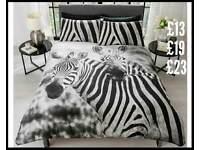 Zebra bedding double