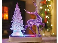 LED tree with reindeer
