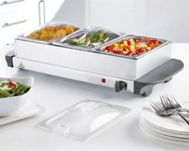 3-Tray Buffet Server hot plate