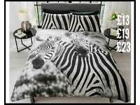 Zebra bedding single