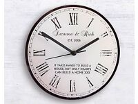 Rustic Message Glass Clock (Personalised)