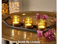 Smoked Glass Tea Lights