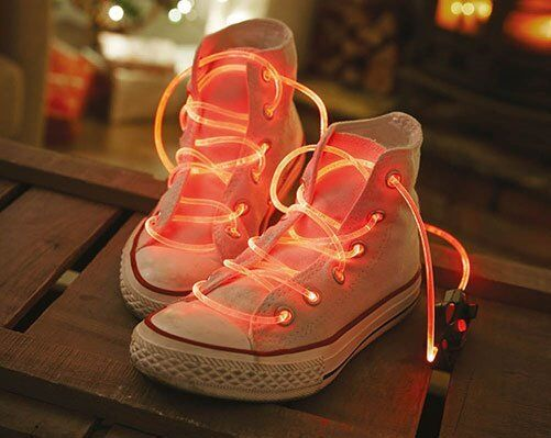 LED Laces. Be the coolest kid on the block with these light up laces! (New)