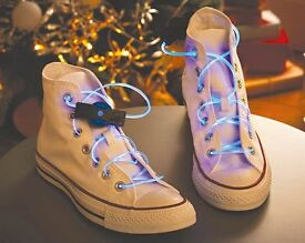 Pack of two. Be the coolest kid on the block with these light up laces! (New)