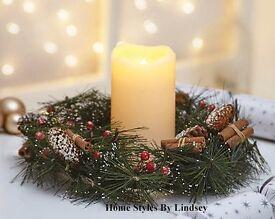 LED Christmas Wreath Centrepiece