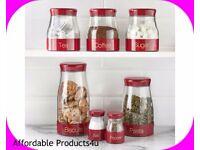 7pc kitchen storage set (red)