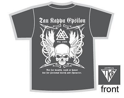 Tribal Skull Shirt Gray TKE Tau Kappa Epsilon Fraternity Teke Rush (Fraternity Rush Shirt)