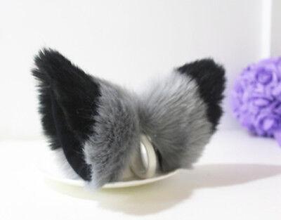 Party Halloween Women Girls Lovely Long Fur Cat Ears Hair clip Anime Cosplay  - Halloween Cat Girl Anime