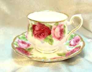 Old English Roses -Discontinued - Royal Albert  China -  22 pcs