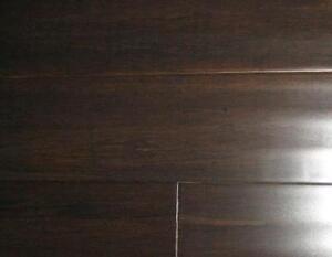 solid hand scraped strand woven bamboo sable hardwood floor flooring