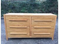 Large Solid Oak Drawers 6 Next Chest Of Contemporary Style Hardwood Sideboard