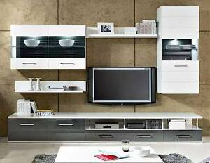 Five pce TVset A8 , Grey Gloss Fronts Malaga Swan Area Preview