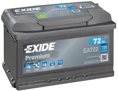 EA722 4 Year Warranty Exide Battery 72AH 720CCA W096TE Type 096
