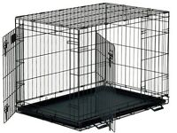 Xl black dogs cage