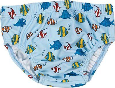 Neu PLAYSHOES Schwimmwindel Badewindel Badehose Fische Gr. 62/68 Junge