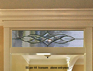 Beautiful Bevel Transom glass window for above entryways or hang