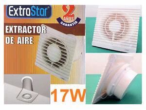 Aspiratore-aria-17-watt-da-muro-Estrattore-150mm-parete-Per-cattivi-odori-e-fumo