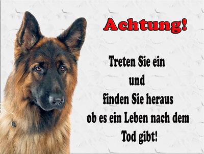 Warnschild -Schäferhund   -Metallschild-Aluschild-Dog