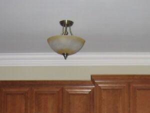 Semi Flush Mount Light - Antic Brass 1 for $30 or 2 for 50
