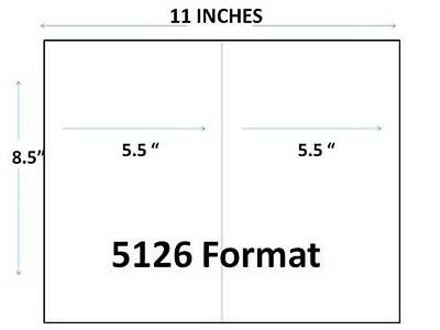 Generic Blank Shipping Labels 8 12 X 5 12 1200 Pk 6 Packs Of 200
