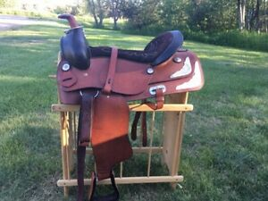 Saddles and various other items