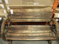 Wooden Garden seat in the ranch style wheels BNIB