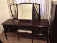 Stag Minstrel Dressing Table with Mirror & Stool
