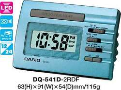 CASIO CLOCK DQ-541D-2R DQ541 ALARM LED LIGHT 12 MONTH WARRANTY