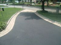 Asphalt Driveway with Cement Border
