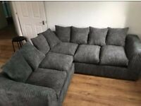 EQUAL CORNER Jumbo Cord Fabric Sofa ALL Back cushions included in Toal Price - Call 4 info