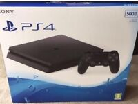 PS4 SLIM 500GB BOXED 2 GAMES