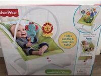 Fisherprice brand new baby bouncer Rainforest comfort curve
