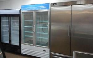 SINGLE, DOUBLE, TRIPLE GLASS DOOR COOLERS / FREEZERS, STAINLESS STEEL COMMERCIAL FRIDGES, SOLID VERTICAL REFRIGERATORS