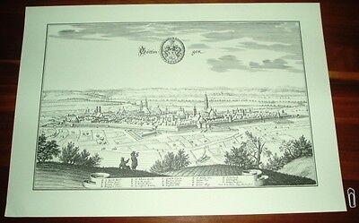 Göttingen: alte Ansicht Merian Druck Stich 1650