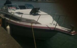 1989 25 ft Cabin Cruiser (boat) with trailer