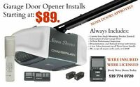 Garage Door Opener Install Starting at $89 (Professional Finish)