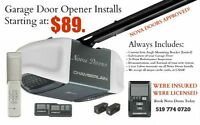 Garage Door Opener Install (Starting at $89.99)