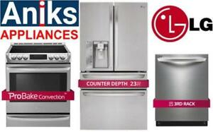 https://aniks.ca/ LG LSE5613ST 30in Slide-In Electric Range, LDF7774ST 24in Dishwa